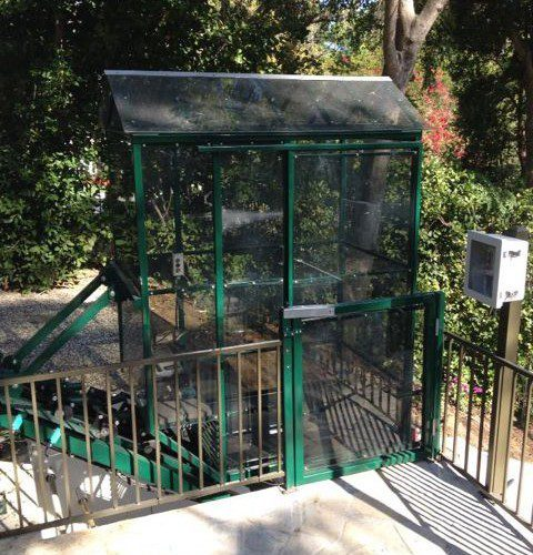 Residential Funicular with fully enclosed car that is City of Los Angeles code compliant