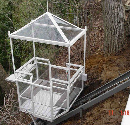 Hill Hiker Incline Home Elevator With Custom Car Roof