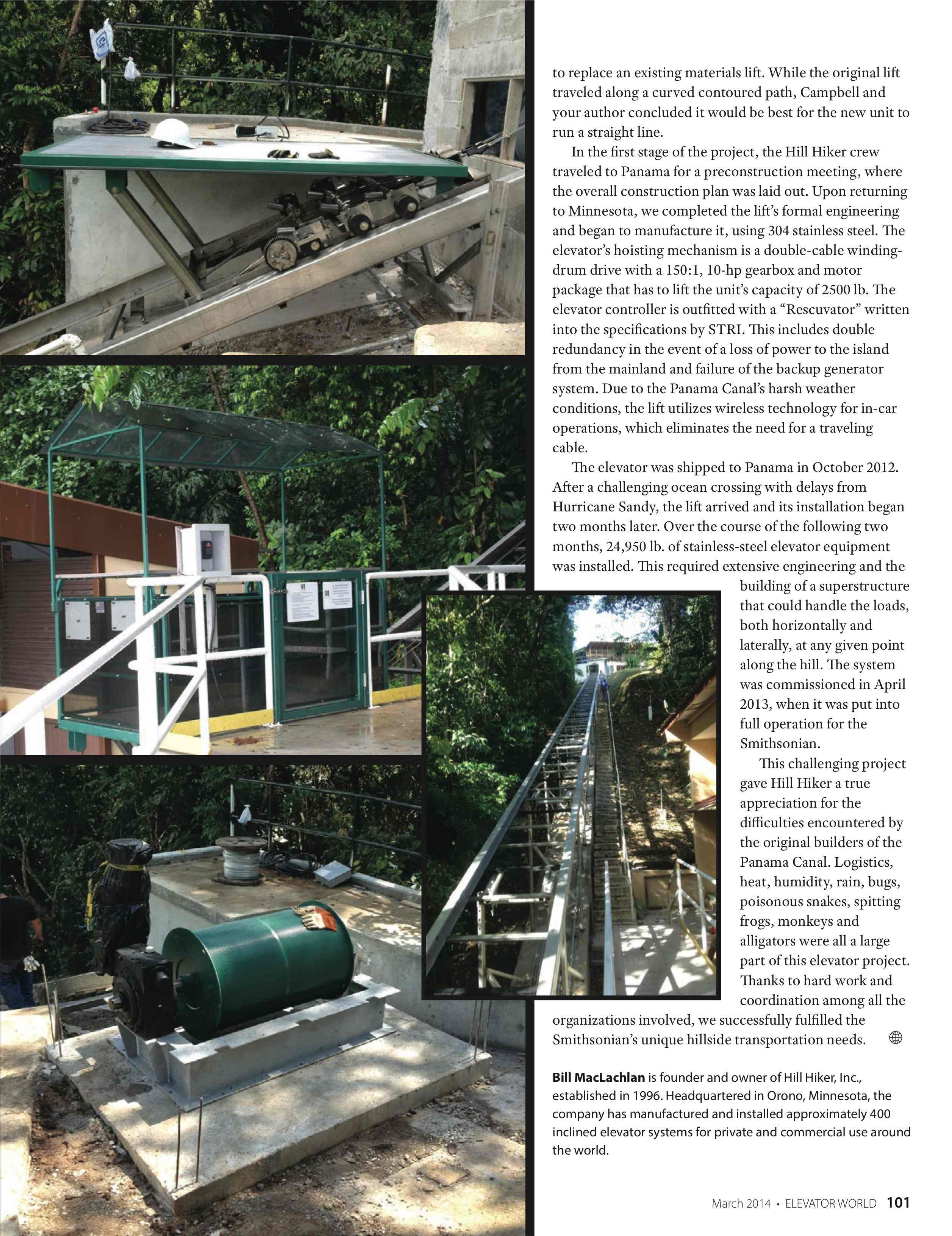 Smithsonian Institute Elevator World Article pg2