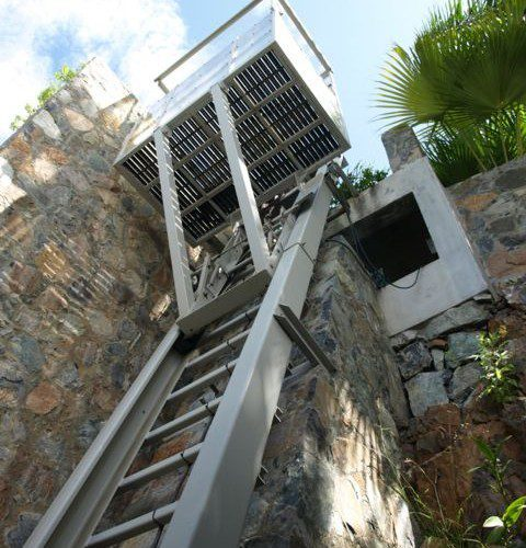 Steepest Hill Hiker® funicular: 80 degrees incline in St. Thomas, USVI