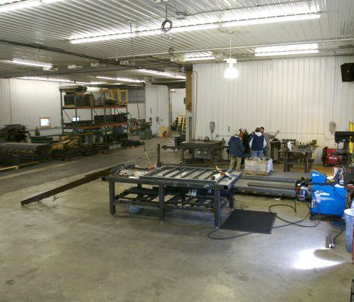 Hill Hiker fabrication shop and assembly shop in Minnesota