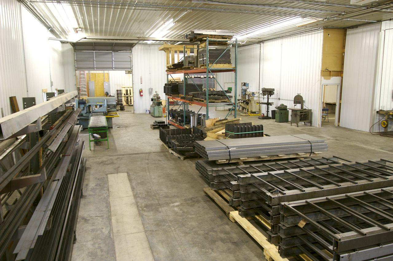 Hill Hiker Inc Manufacturing Facility with fabricating tools and funicular incline tram components and equipment
