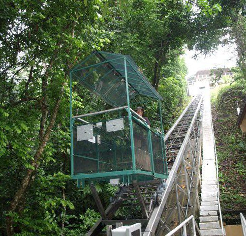 Smithsonian Tropical Research Institute Incline tram project with stainless steel construction in Panama
