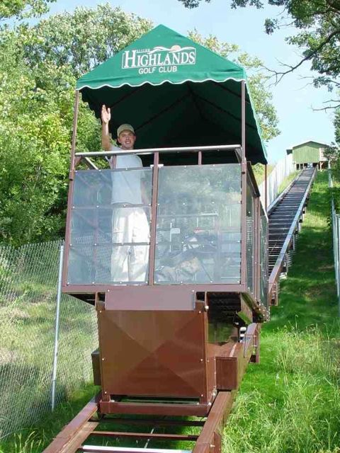 Wisconsin Golf Course Commercial Outdoor Elevator Lift Project With Large Car and Canopy