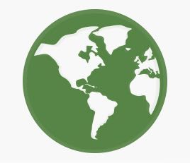 Green Color World Image Representing Hill Hiker's Global Capabilities and Presence